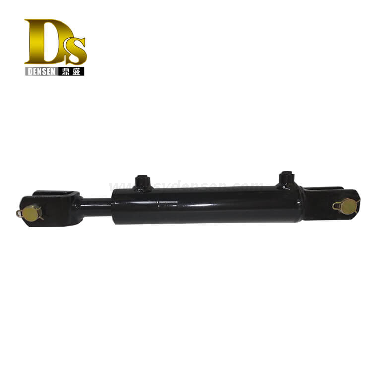 Densen Customized Ductile iron and steel casting and machining double-acting hydraulic cylinder for agricultural machinery