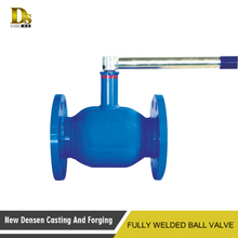 Hot sale gas heat & water supplying pipeline use flange hot water fully welded ball valve