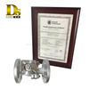 Densen customized stainless steel 304 Silica sol casting and machining flanged ends 2 PC ball valve