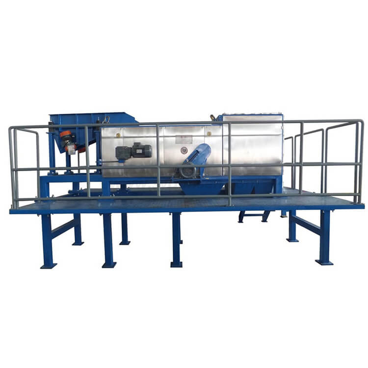Automatic sorting line for medical glass scraps containing aluminum with eddy current magnetic separator
