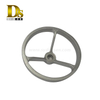 Densen Customized stainless steel 316 Silica sol investment casting and machining handwheel, carbon steel handwheel for valve