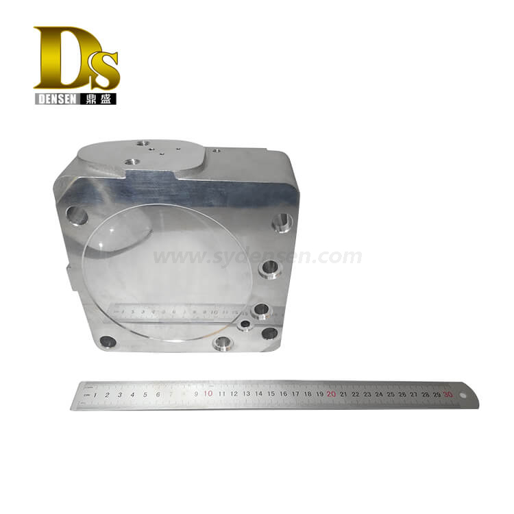 Densen Customized aluminum A356 Gravity casting lower valve body for High-speed train polish Machined parts