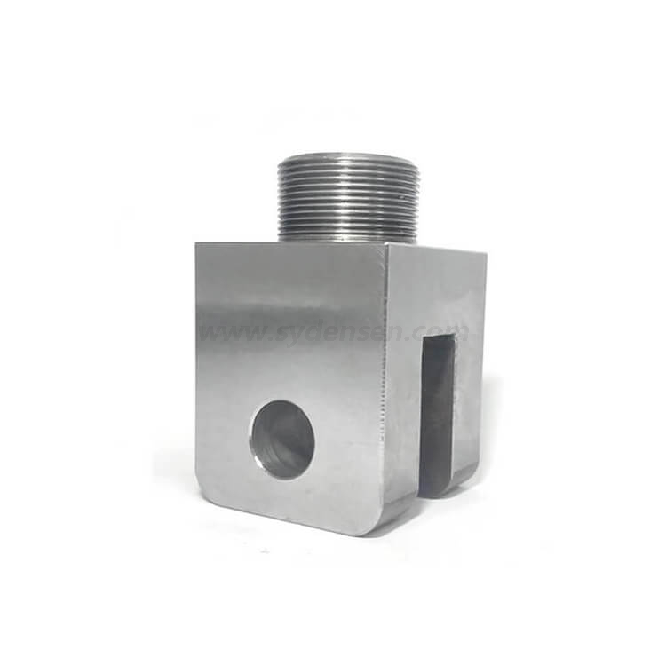 Densen Customized level of steel Q235 clevis base connection fork seat Bar processing machining components