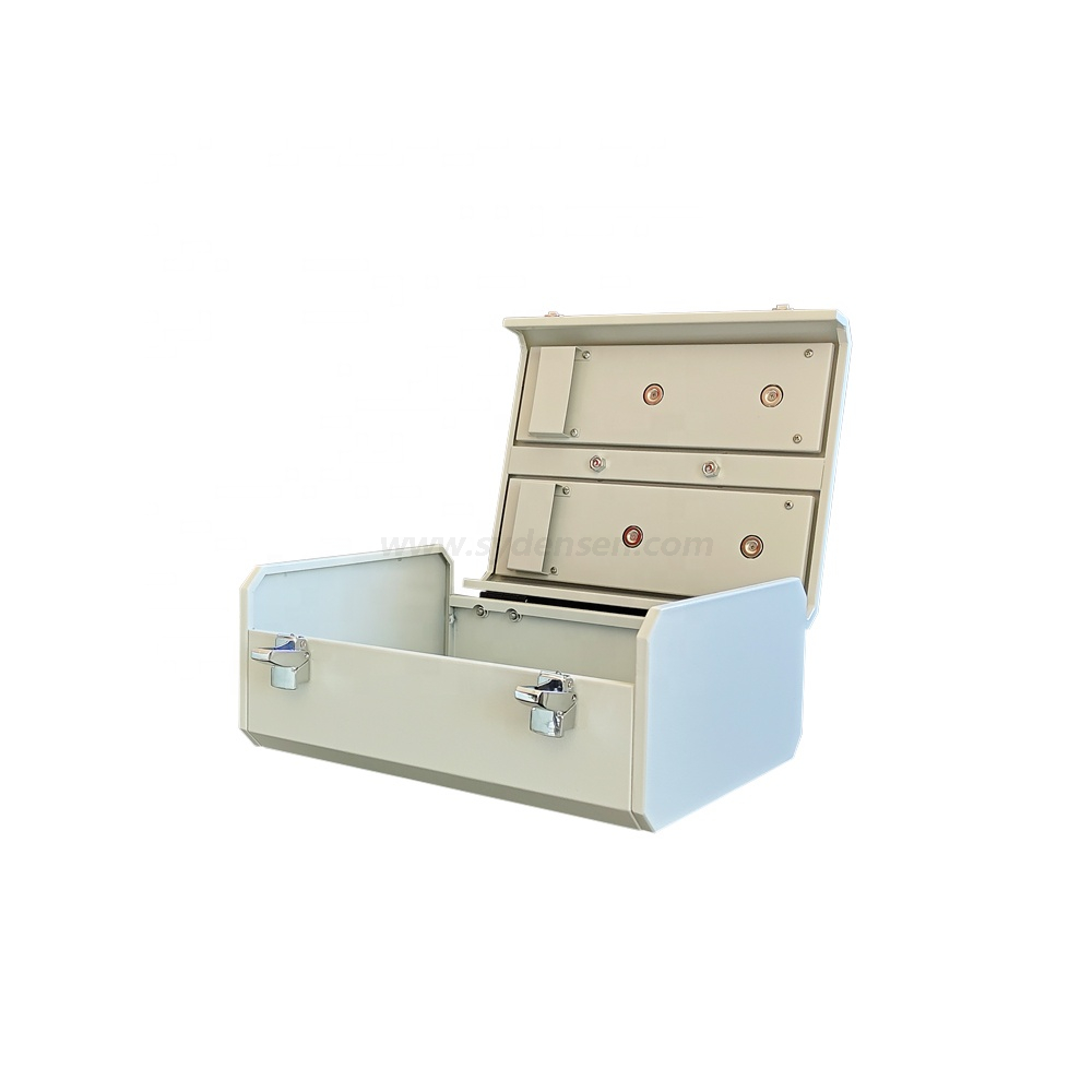 Densen customized Service Portable White Toolbox with Handle Oem Sheet Metal Fabrication