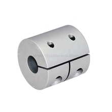 Densen customized Clamp Screw Rigid Coupling CNC Stepper Motor Shaft Coupler